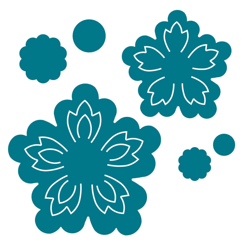 Blossoms 3 D Cricut Gypsy Flower Template Paper