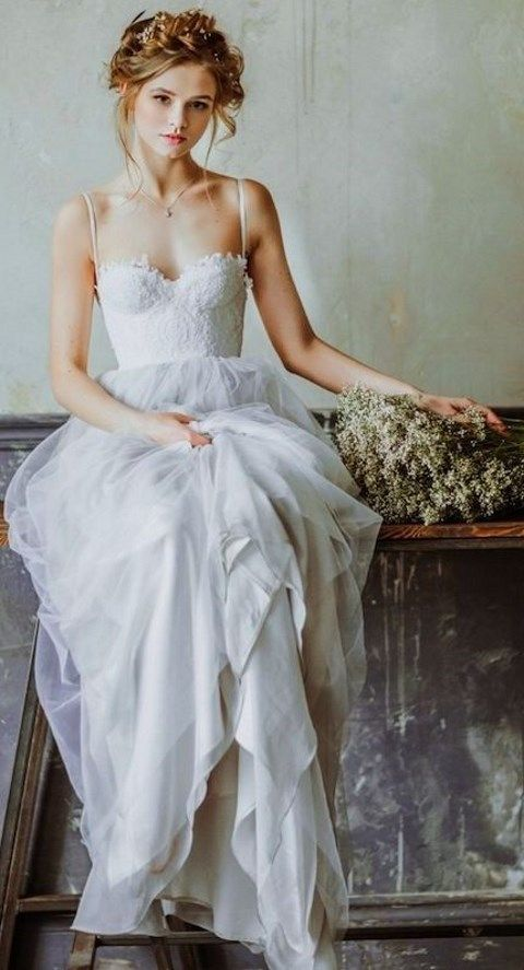 60 Romantic And Airy Flowy Wedding Dresses | Pinterest | Flowy ...