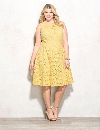 Yellow summer dresses plus size