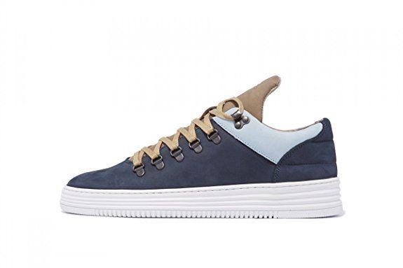 Filling Pieces SS16 Mountain Cut Schuhe Sneaker Neu (EUR 45, Navy)