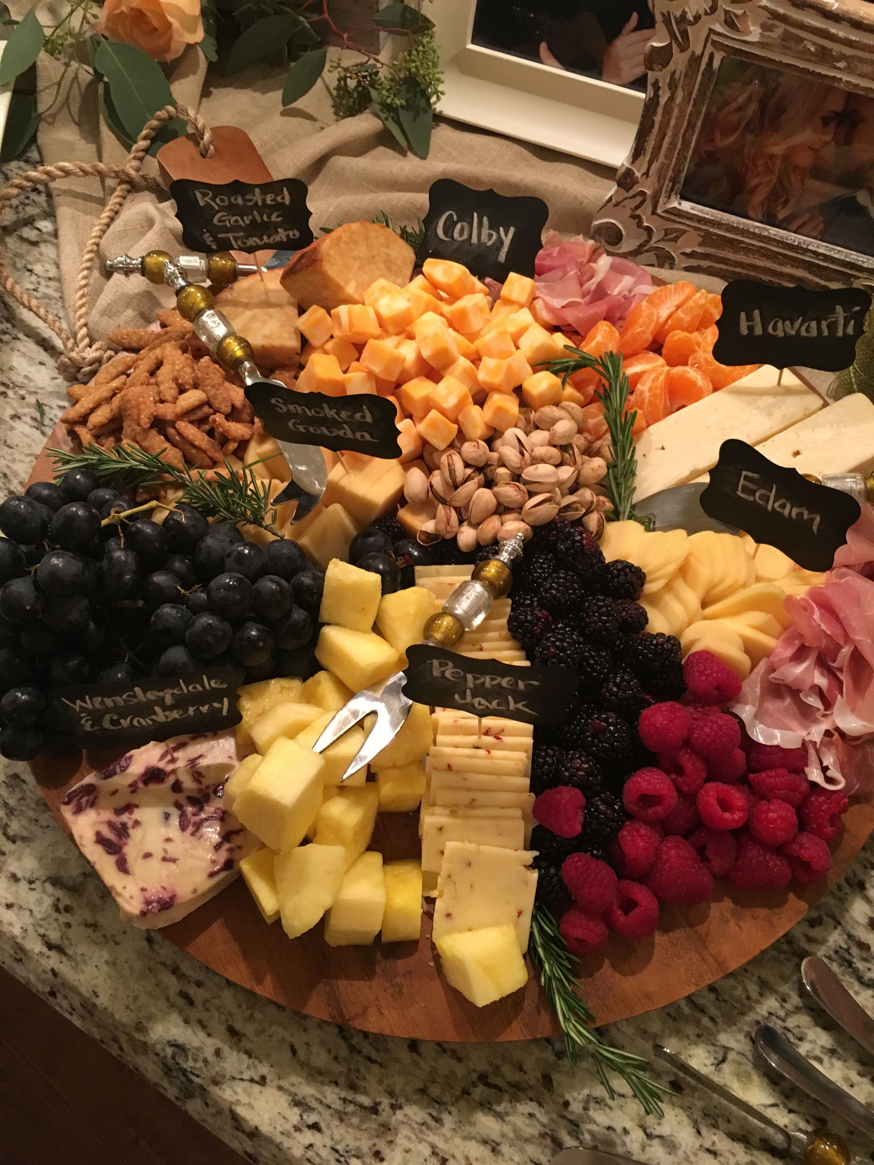 finger food ideas for bridal shower%0A Cheese trayperfect for a rustic wedding or bridal shower