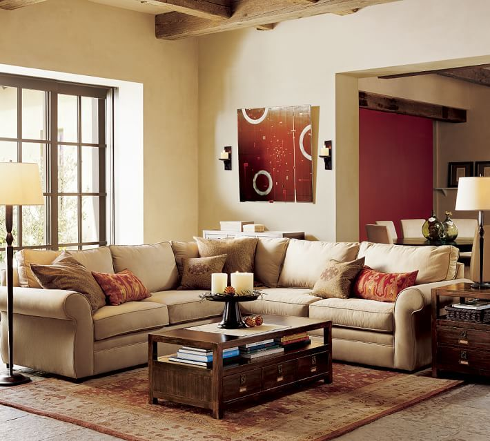 Pearce Upholstered 2 Piece L Shape Sectional Pottery Barn