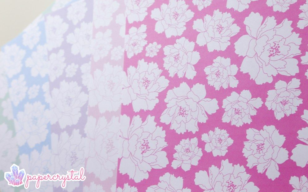 Peony Pattern - Free Printable Origami Papers Origami paper