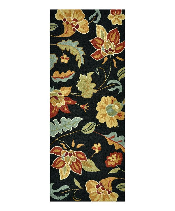 Look At This Black With Images Floral Floral Runner Summerton
