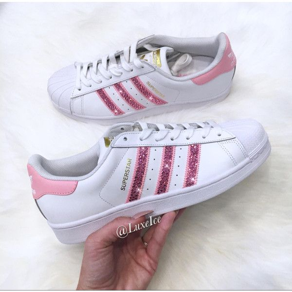 39968bd25df90 Adidas Original Superstar white/pink With Swarovski Xirius Rose-Cut ...