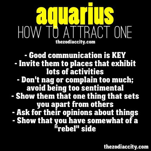 How to get an aquarius man