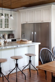 double fridges built into the wall where breakfast bar currently is rh pinterest com