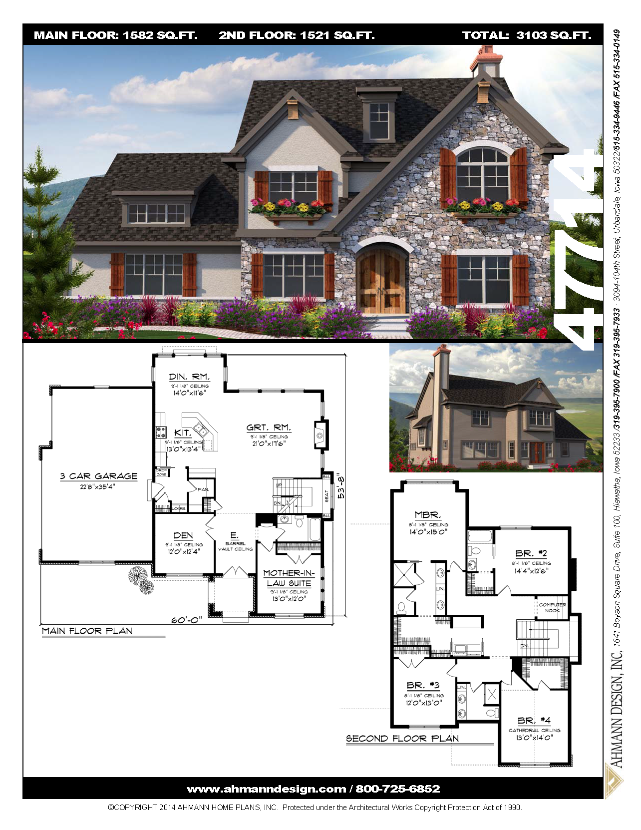 47714 Ahmann Design Plan 47714 Inspired By The English Tudor Home Of Years Gone By This Two Story Charmer Is In 2020 Family House Plans Sims House Plans House Plans