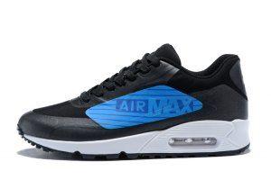 on sale 7987c 168c0 Mens Shoes Nike Air Max 90 NS GPX Big Logo Black Laser Blue AJ7182 002