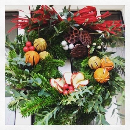 Wow! One of our students Christmas Wreath now adorning a front door... #christmaswreath #christmasiscoming #doorwreath #traditionalwreath #floristryskills #craftschool ##christmasdecor #lovinglymade #sussex