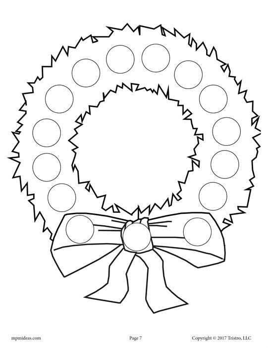 10 FREE Christmas Do-A-Dot Printables! Wreaths, Craft and Free - new christmas coloring pages for preschoolers printable