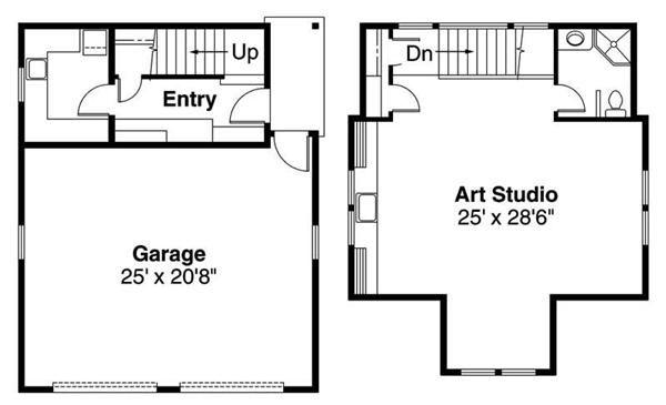 1 Bedroom Garage Apartment Floor Plans Floor