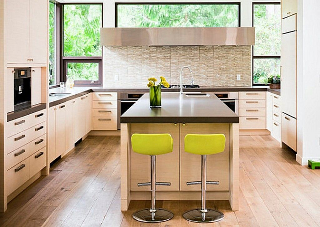 Contemporary Kitchen Design With Metal Countertops Kitchen