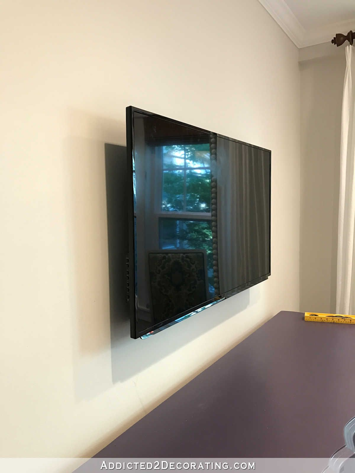How To Build An Easy Diy Frame For A Wall Mounted Flat Screen Tv 15 On With Low Profile Mounting Hardware