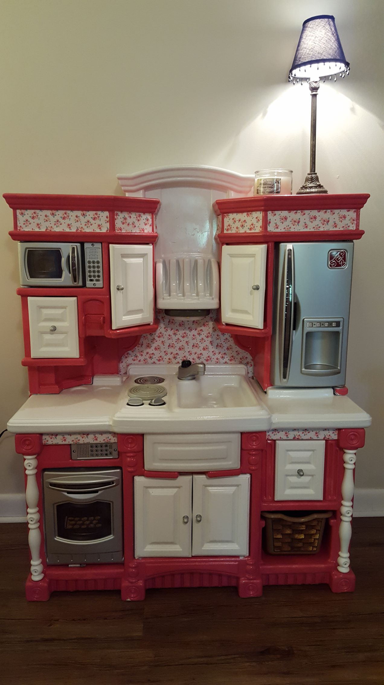 diy play kitchen remodel plastic step 2 kids play kitchen diy rh pinterest com