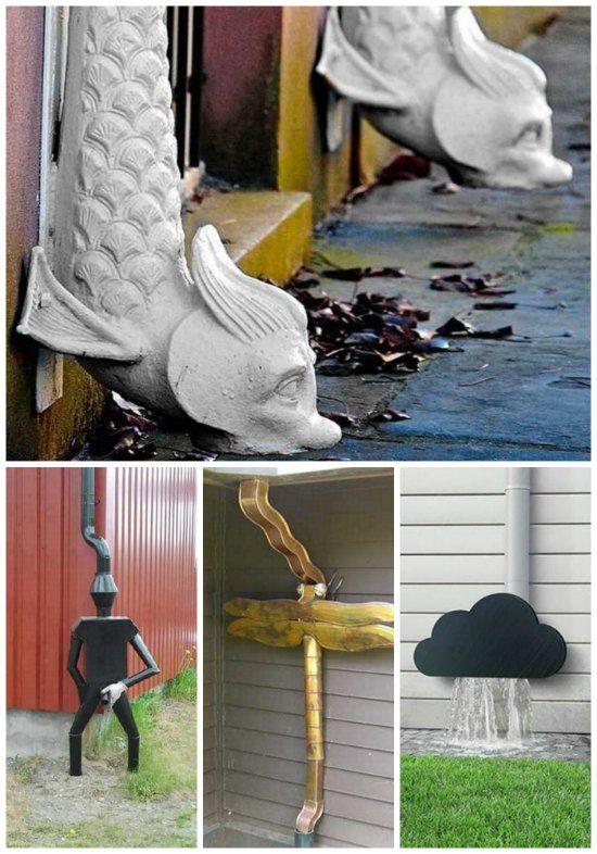 21 Creative Diy Downspout Ideas Downspout Decorative Downspouts Creative