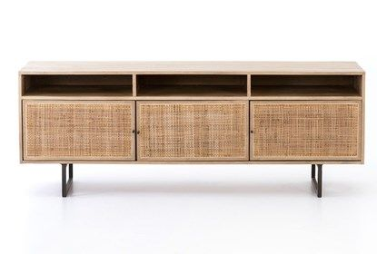 natural cane media console in 2019 console tables console rh in pinterest com