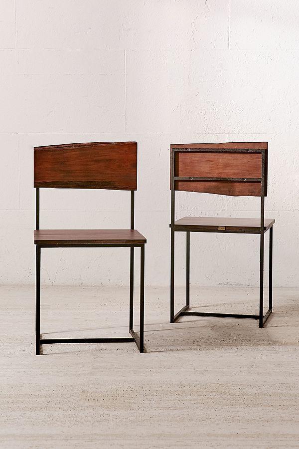 Live Edge Wood Dining Chair Set