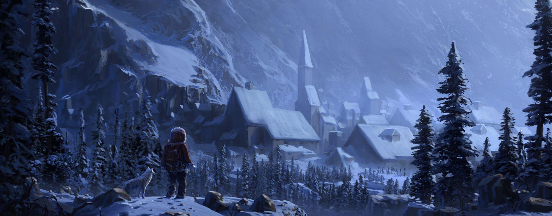 Fantasy Background Snow Art Action