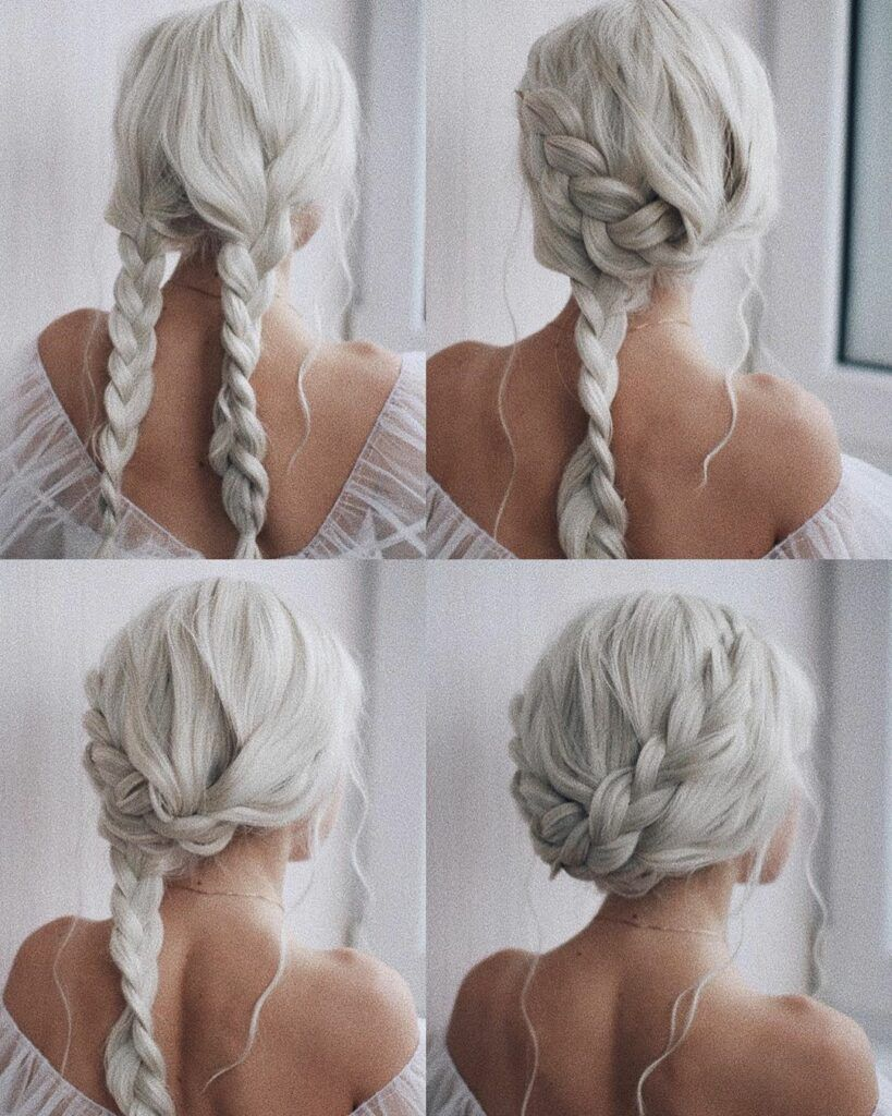 This Elegant Hairstyle Is Also Suitable For Wedding Low Bun