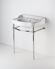 Pedestal sink with metal legs bathroom pinterest for Pedestal sink with metal legs
