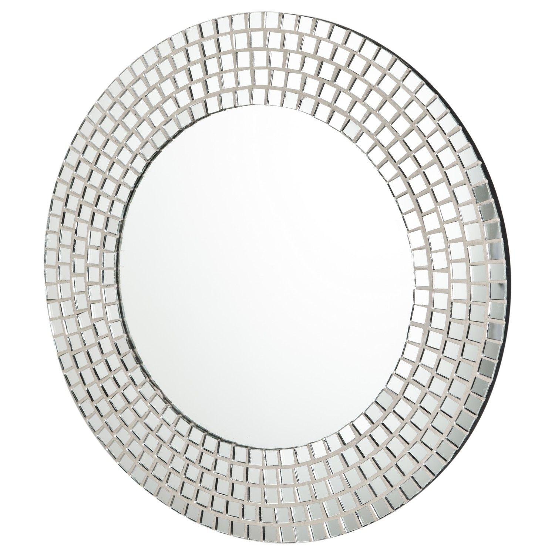 Buy Round Silver Mosaic Frame Mirror Mirrors The Range