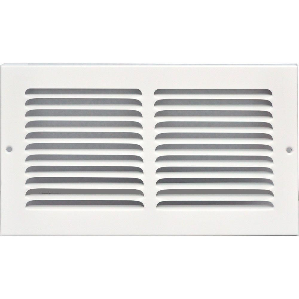 Speedi Grille 12 In X 6 In Return Air Vent Grille White With Fixed Blades Return Air Vent Air Vent Vent Covers