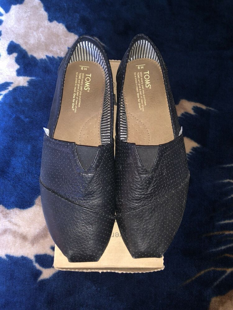46d5056d86f Toms perforated black leather slip ons  fashion  clothing  shoes   accessories  mensshoes  casualshoes (ebay link)