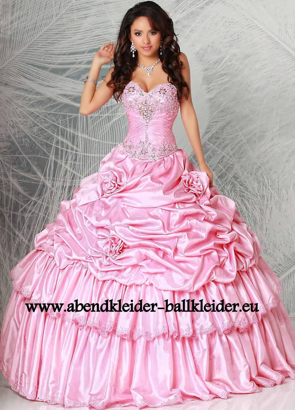 schönes abendkleid ballkleid online in rosa | abendkleid