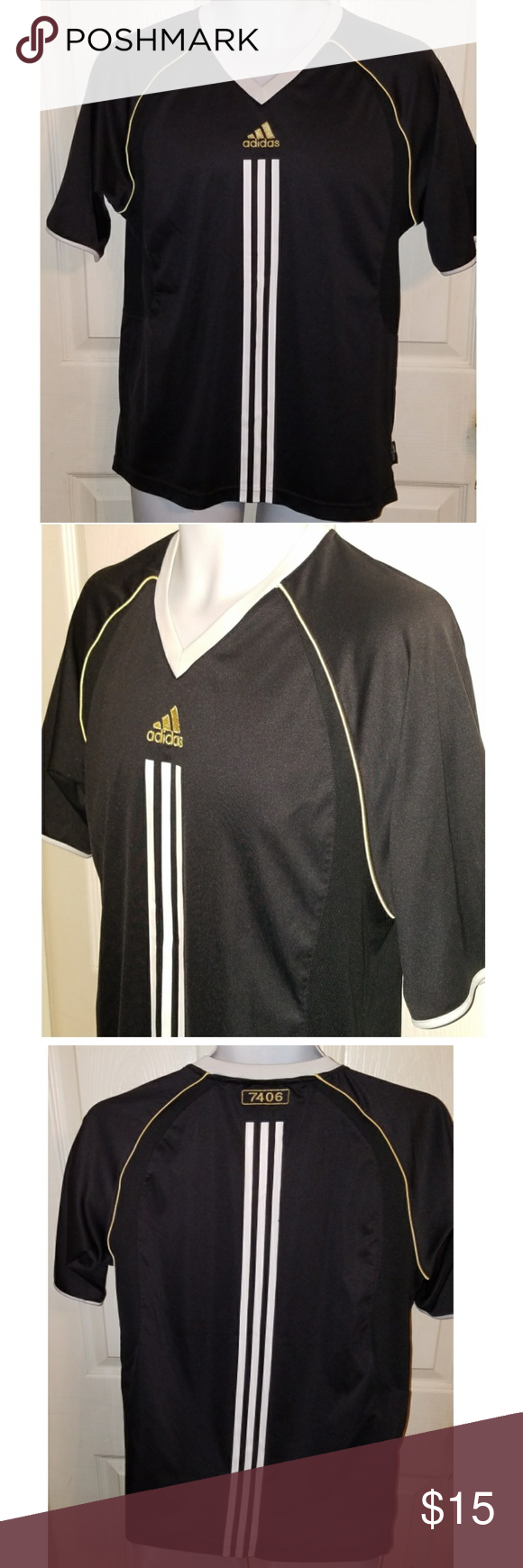 adidas 7406. Adidas 7406 Soccer Jersey Adult Small