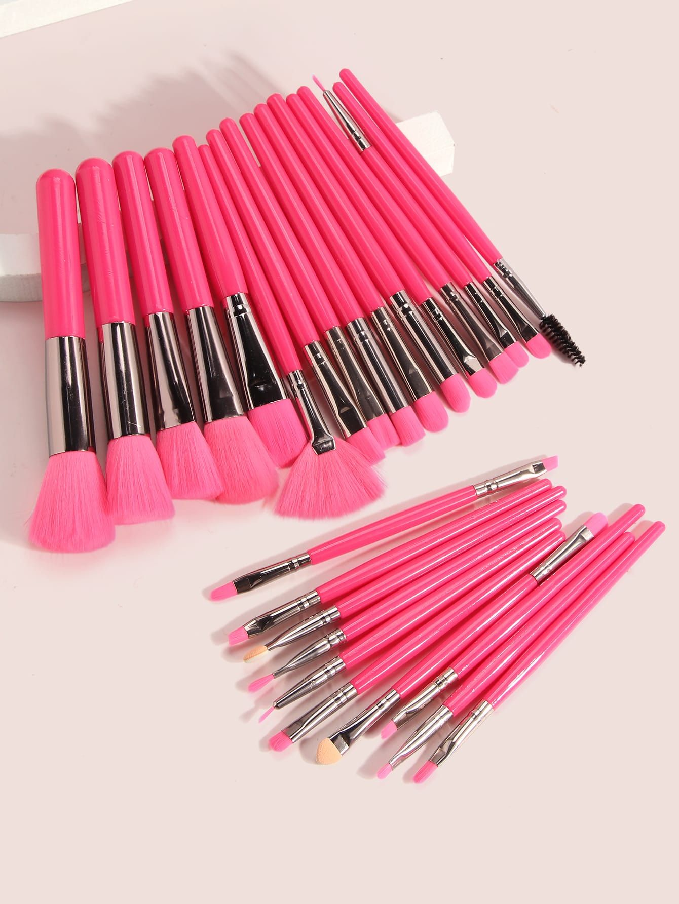 Photo of 25 piezas set cepillo de maquillaje de dos colores