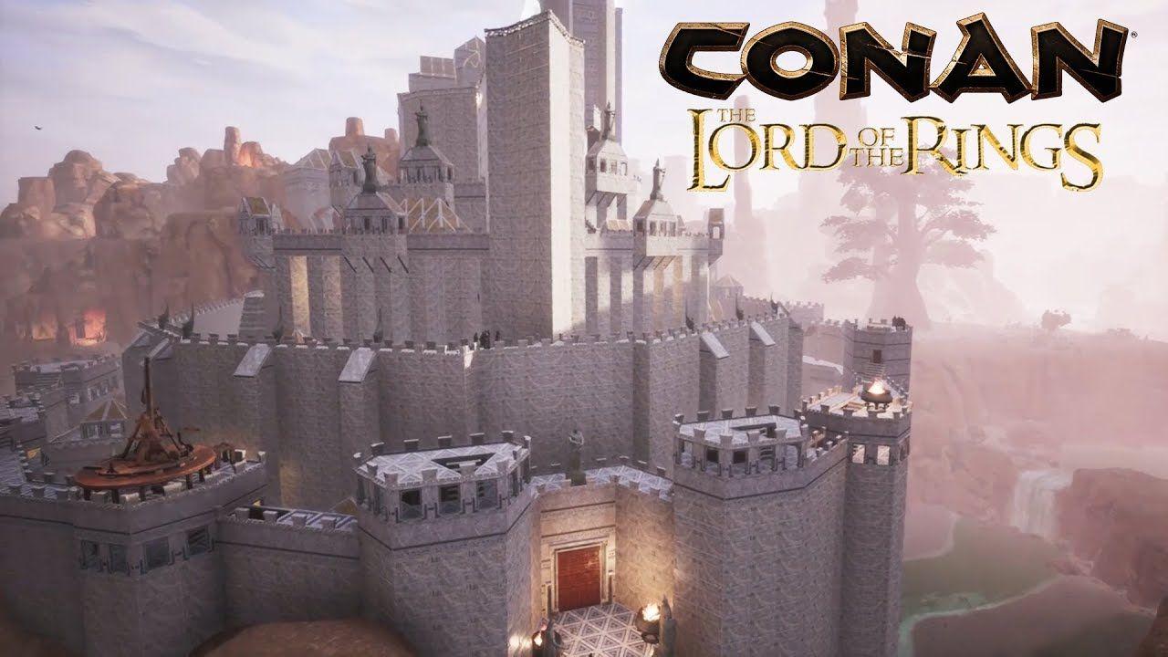 Conan Exiles Minas Tirith From The Lord Of The Rings Speed Build Youtube Conan Exiles Conan Minas Tirith