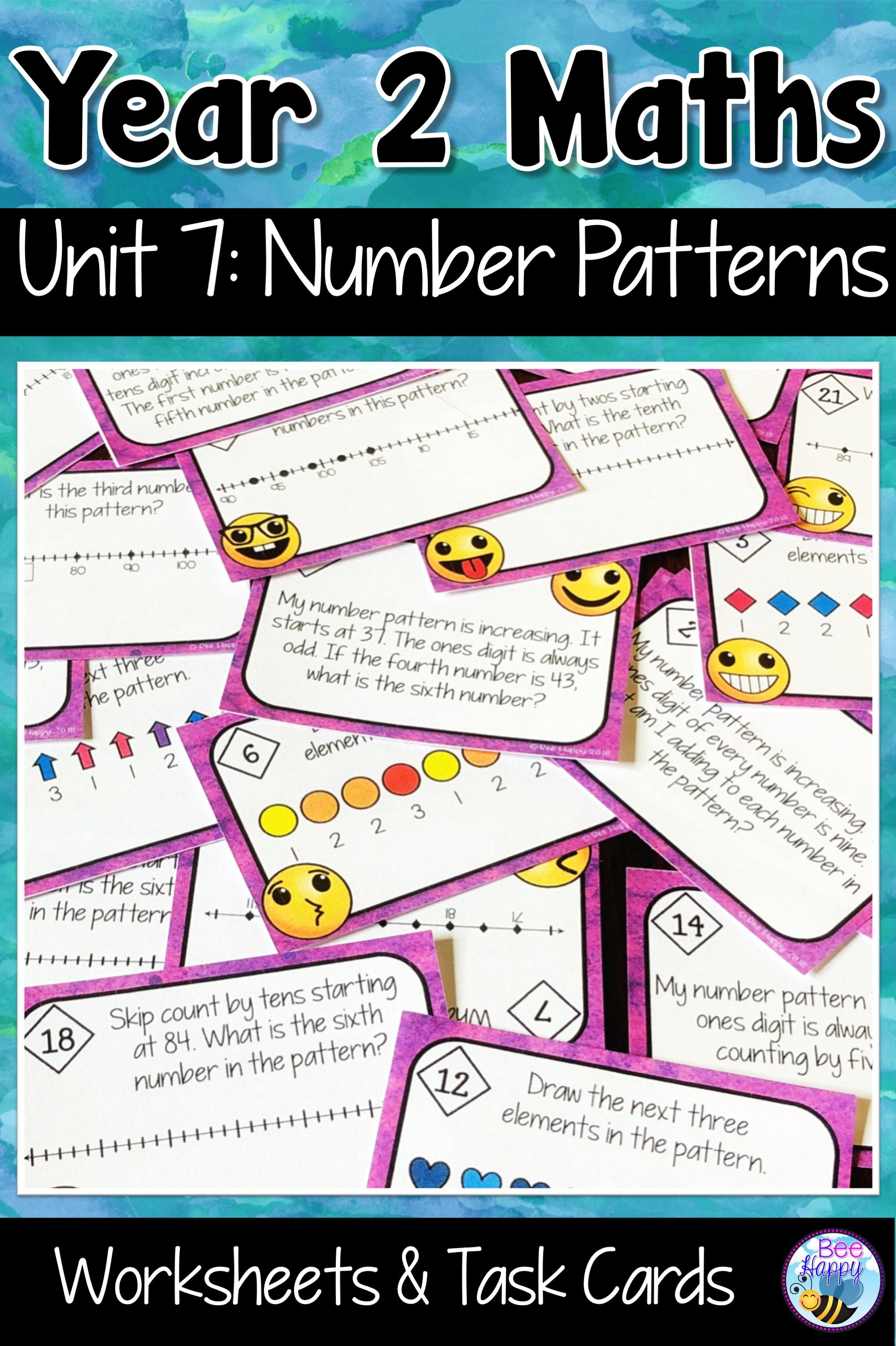 Australian Curriculum Aligned Worksheets And Task Cards For Grade 2 Describing Patterns Created By Skip Count Australian Curriculum Number Patterns Curriculum [ 3000 x 1998 Pixel ]