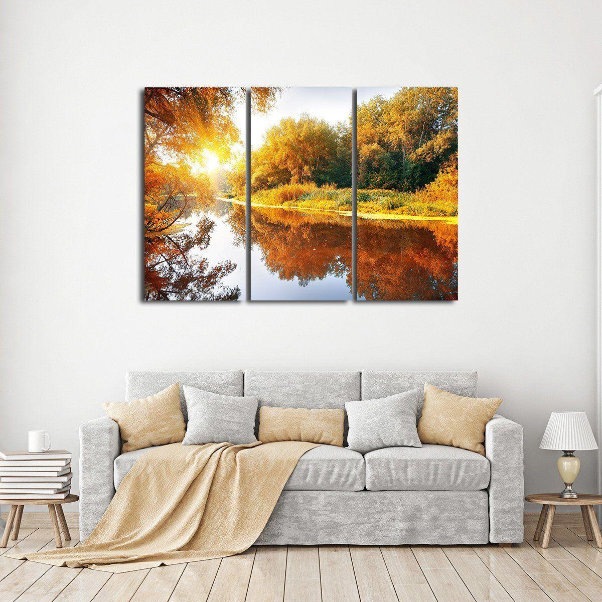 Autumn season multi panel canvas wall art in 2020 wall