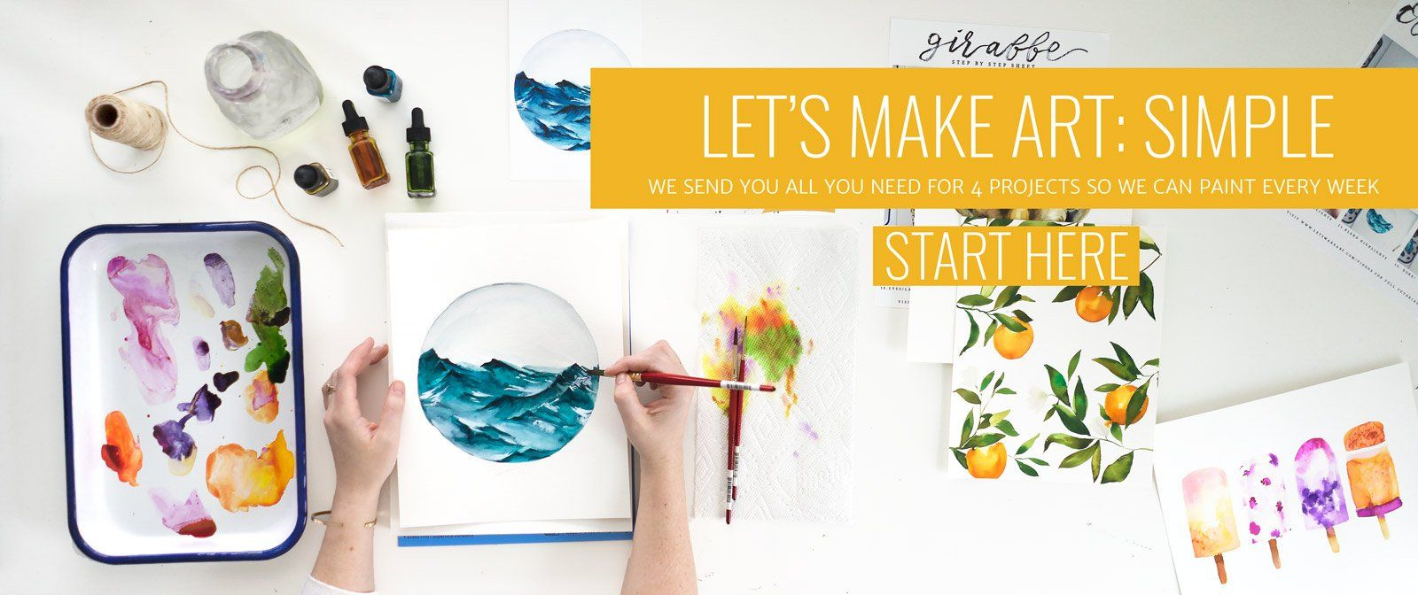 Watercolor Subscription Box Let S Make Art Monthly Art Box