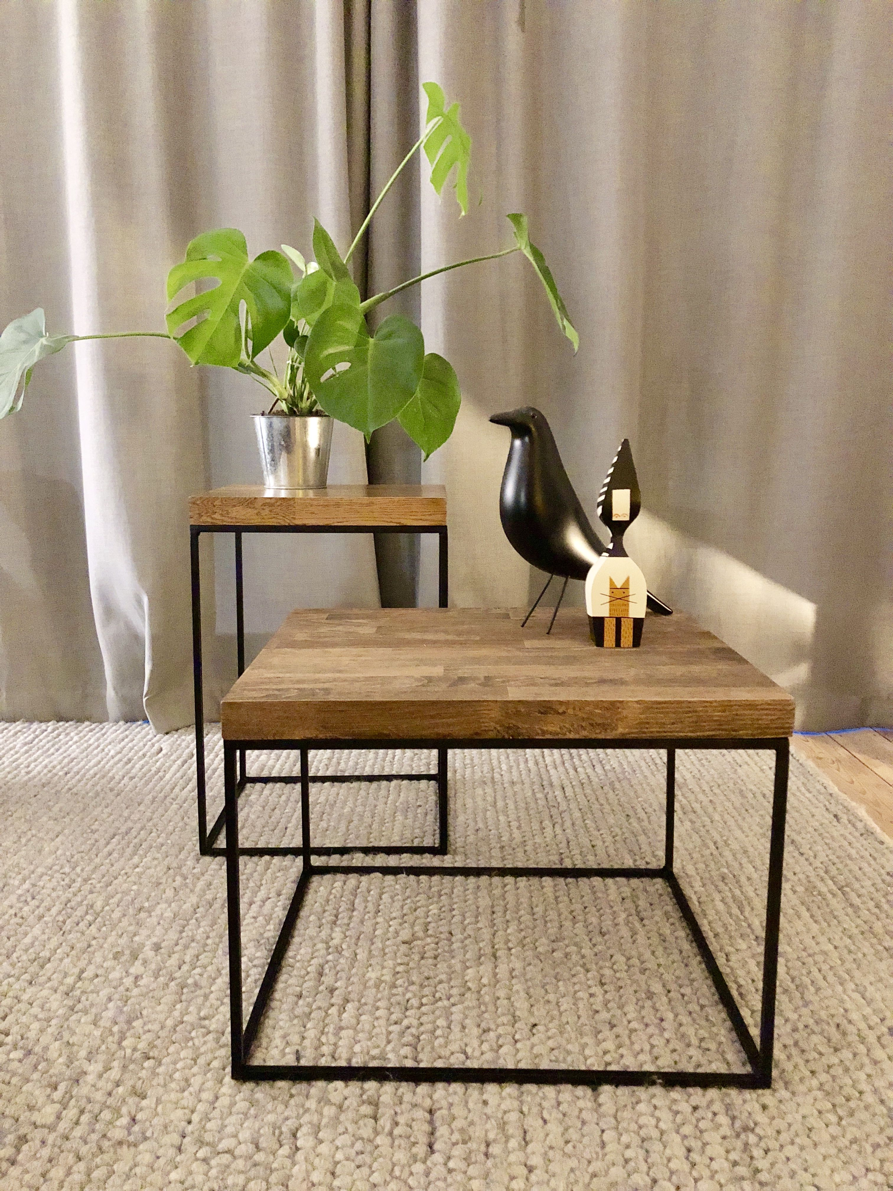 Cuboid Design Oak And Steel Coffee Table Coffeetable Handmadefurniture Handmade Industrial M Coffee Table Mid Century Coffee Table Geometric Coffee Table [ 4032 x 3024 Pixel ]