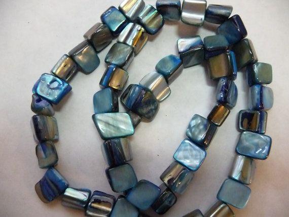 BeadsMotherofPearl Shell Natural Dyed Blues Mini by darlamarie23, $1.49