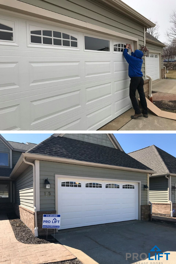 Garage Door With Windows And Grilles In 2020 Garage Doors Garage Door Windows Garage Door Makeover