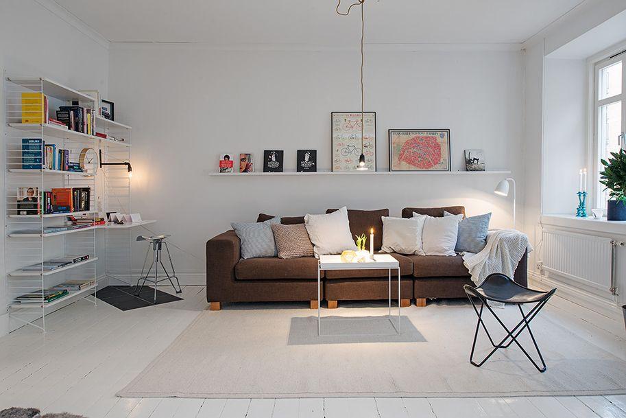 Alvhem m kleri och interi r living room interi r for Rechthoekige woonkamer inrichten