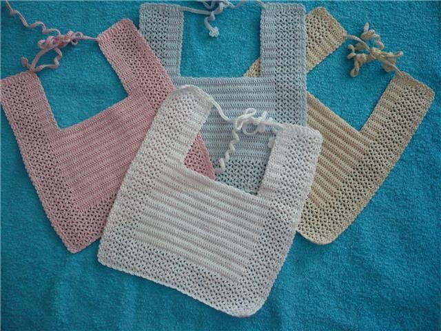 Baberos ganchillo buscar con google baberos para bebe - Labores de crochet para bebes ...
