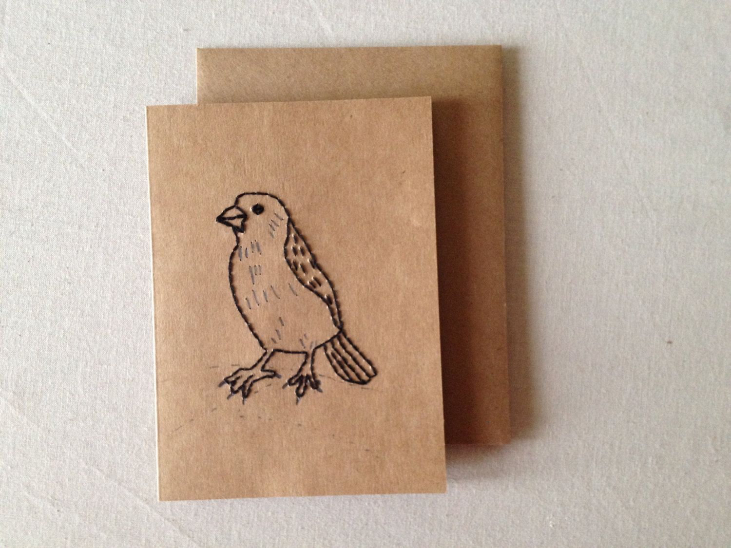 Hand embroidered bird greeting card embroidered cardsbirthday hand embroidered bird greeting card embroidered cardsbirthday cardseasons greetingsspecial kristyandbryce Image collections