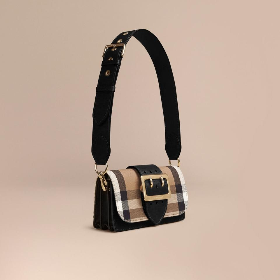 88b2271ba2360c BURBERRY The Small Buckle Bag in House Check and Leather | Purse ...