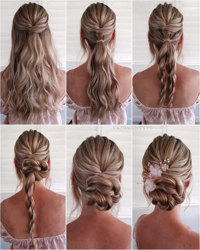 Simple And Pretty Diy Updo Braided Hairstyle Tutorials For Wedding Guest Braided Hairstyles For Wedding Updo Hairstyles Tutorials Guest Hair