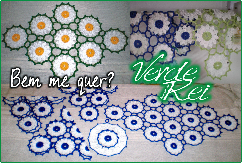 "Crochet Naperons ""Daisies"" (100% cotton thread)."