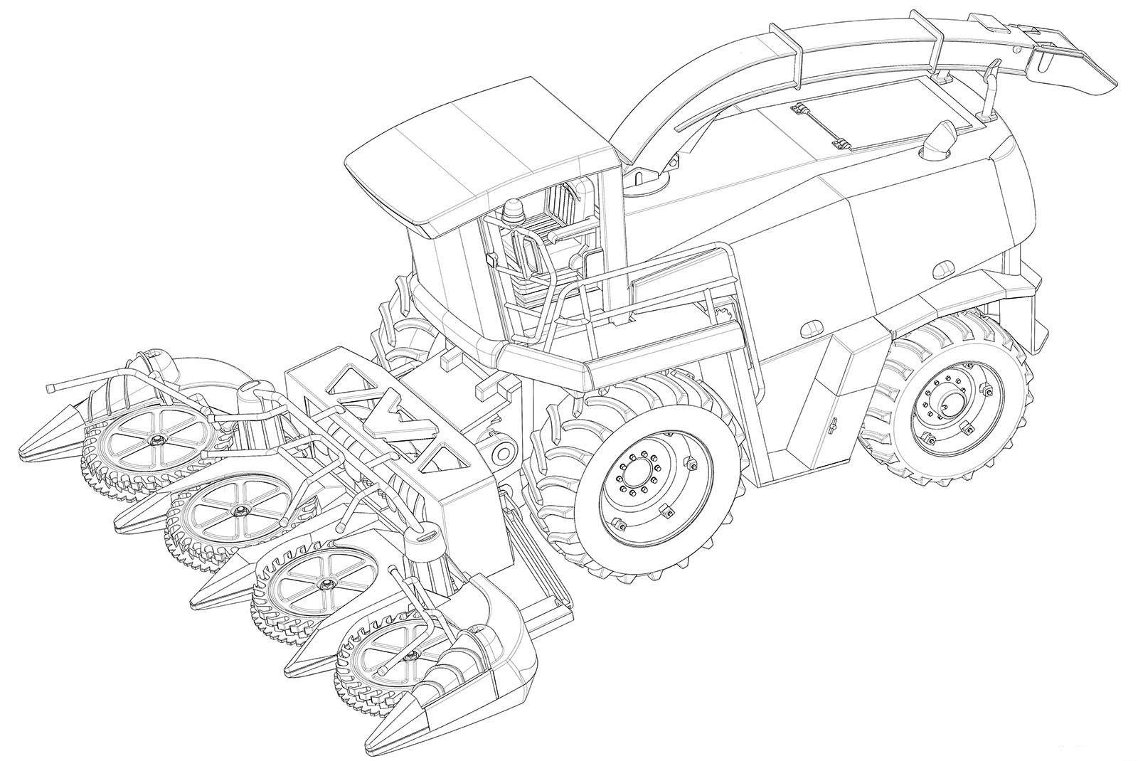 Dibujos Para Colorear De Tractores Y Cosechadoras 3 Cosecha Dibujos Para Colorear Dibujos