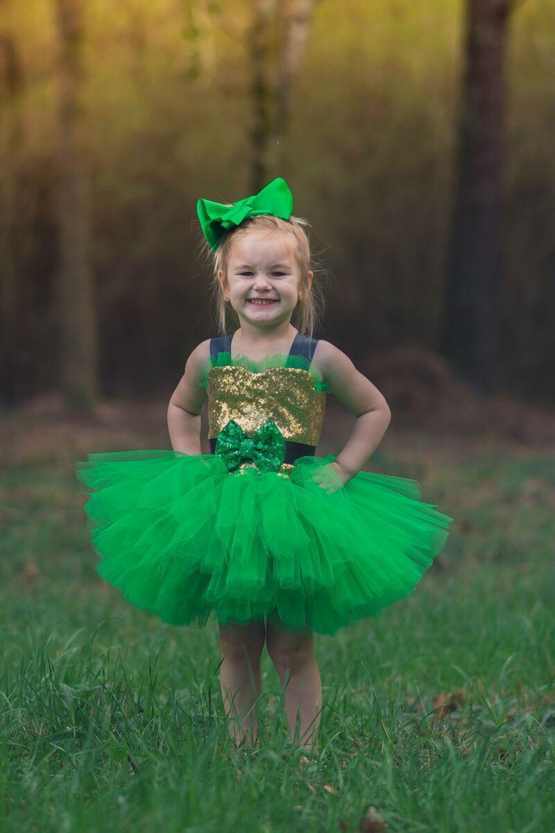 St. Patrick's Day Tutu, Girls Leprechaun Tutu Costume