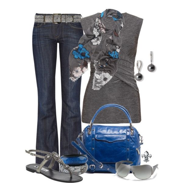 Scrap Floral Scarf, created by hatsgaloore on Polyvore