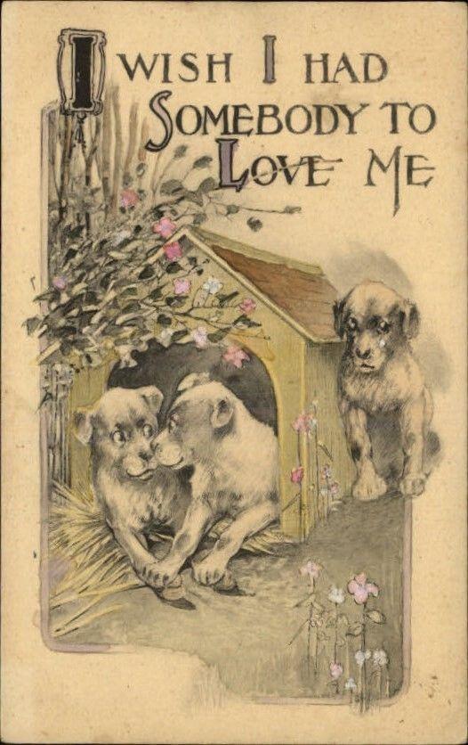 Dogs Dog House Jealousy c1910 Old Postcard | eBay
