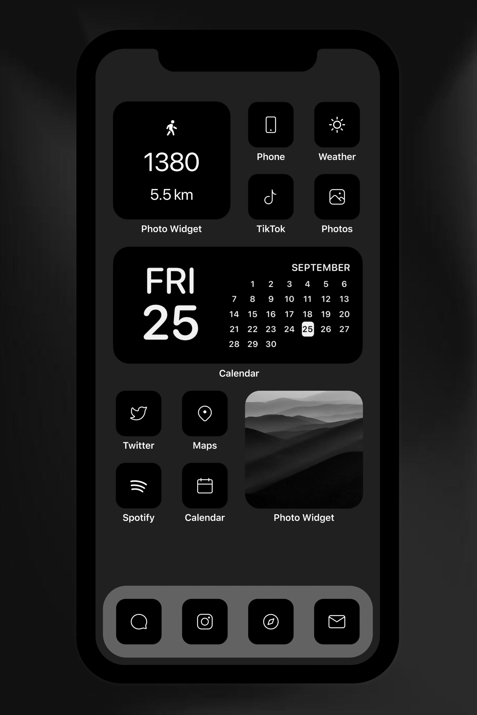 Ios 14 App Icons 75 Minimalist Dark Theme Icons App Icon Homescreen Iphone Iphone Wallpaper App
