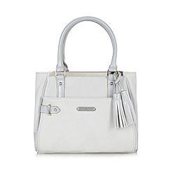 195de890d4c1 J by Jasper Conran - Designer light grey metal top grab bag